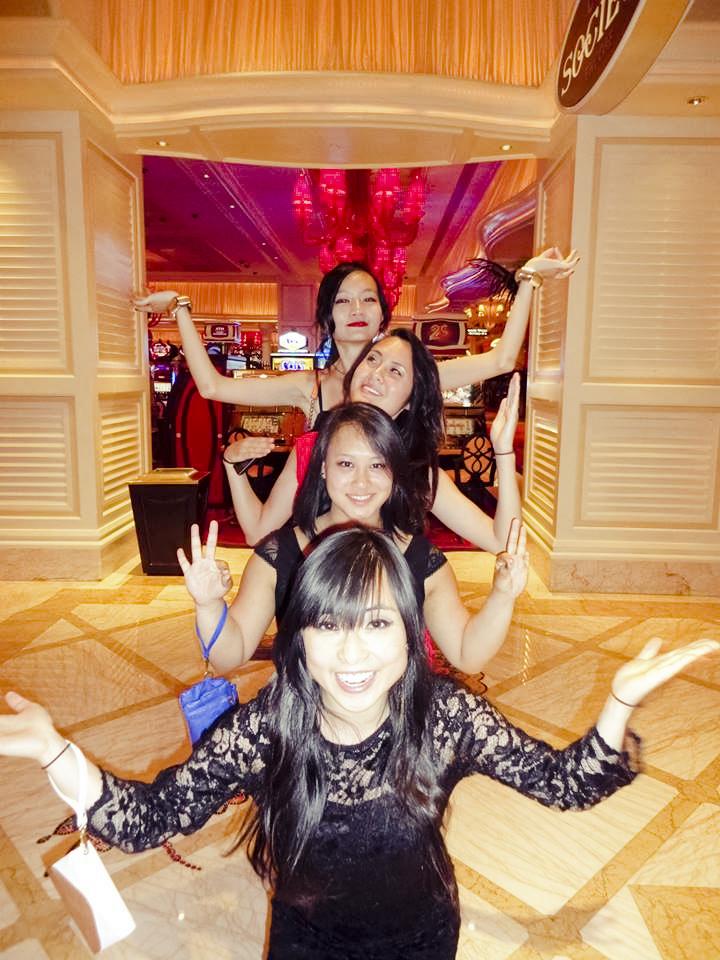 Up to shenanigans while waiting to enter Surrender nightclub in Las Vegas.