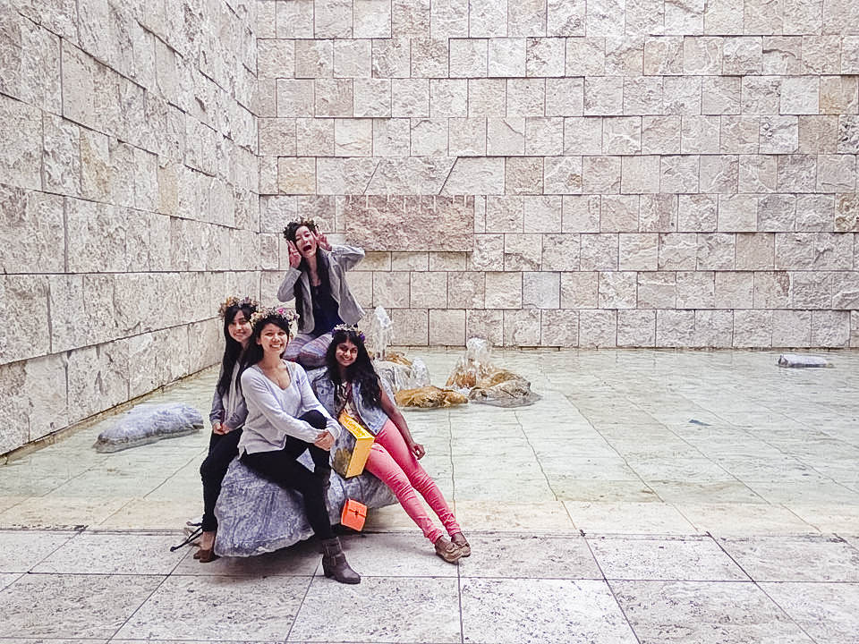 Ssen, Lilli, Ren, and Nam at the Getty Center.