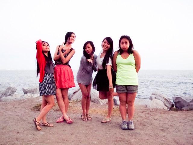 Group wacky photo at Malibu Beach.