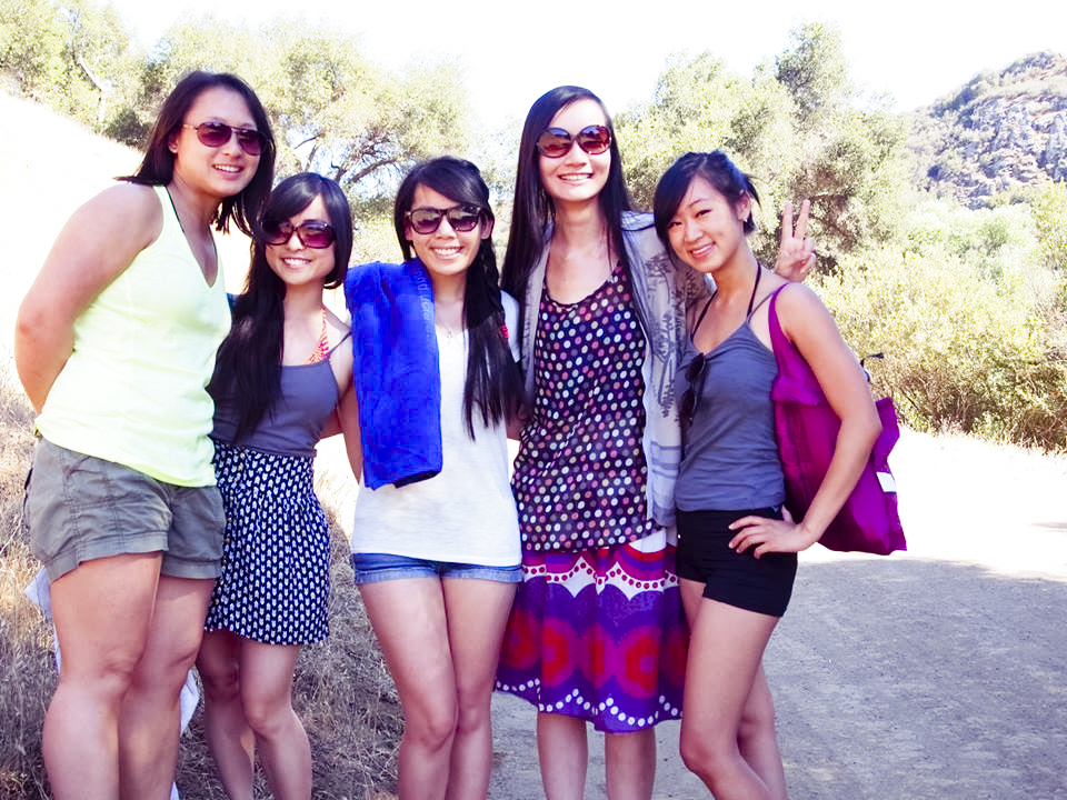 Group photo hiking at Malibu Creek.