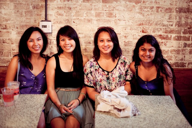 Photo of friends at Intelligentsia in Old Town Pasadena.