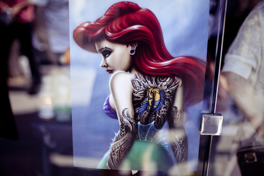 Punk rendering of Ariel from The Little Mermaid.