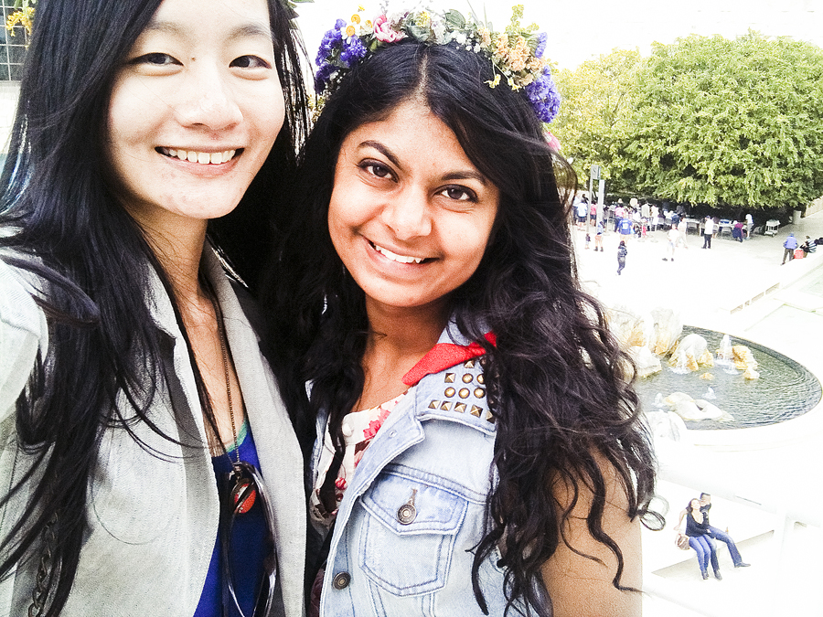 Ren and Nam at the Getty Center.