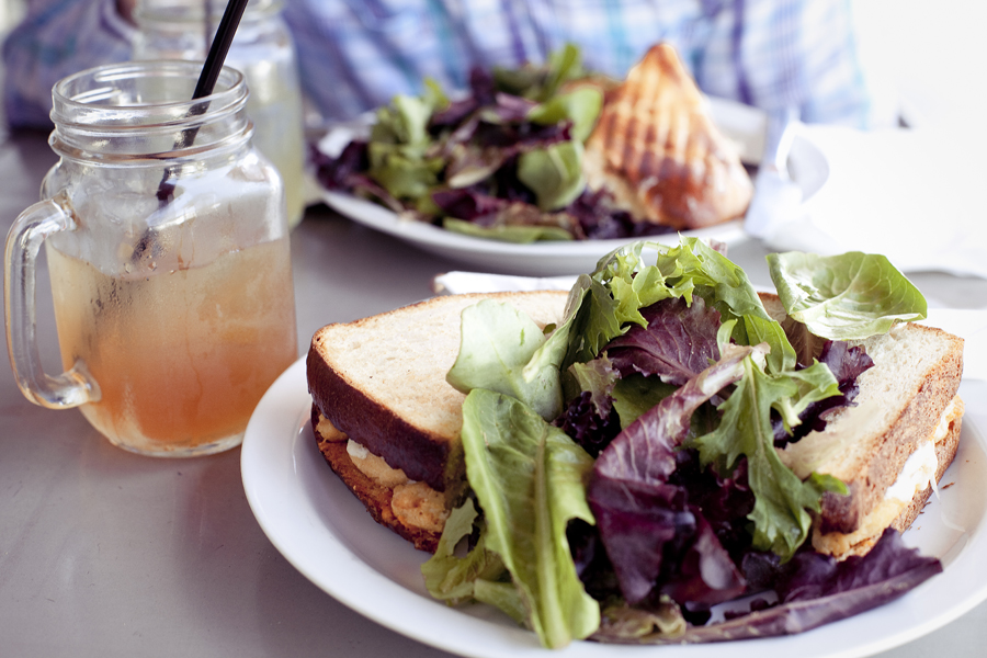 Sandwiches and Arnold Palmers at Chimney Brick Toast Coffee House in downtown LA.