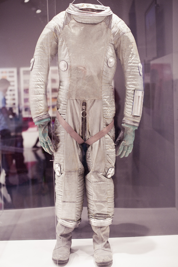 Astronaut suit at the Stanley Kubrick exhibit at LACMA.