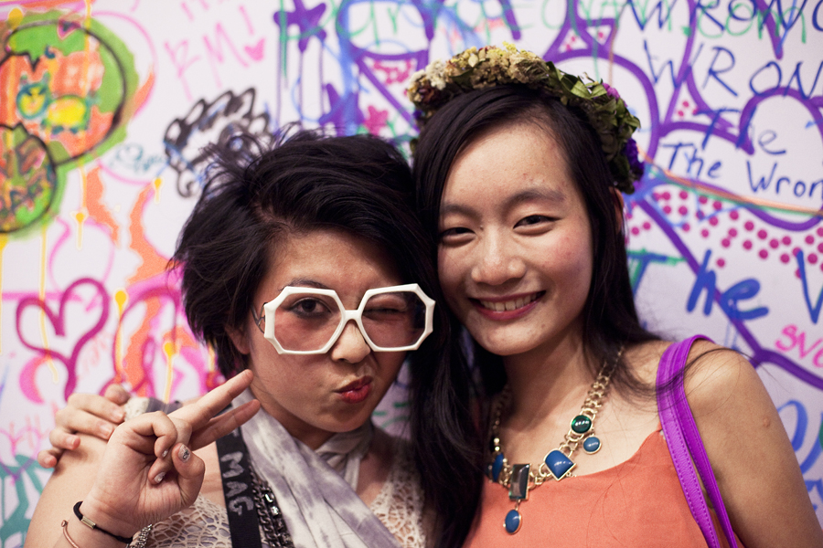 Camay and Ren at the Lookbook x Rebecca Minkoff Denim Launch Party at the Confederacy Boutique in Hollywood, Los Angeles.