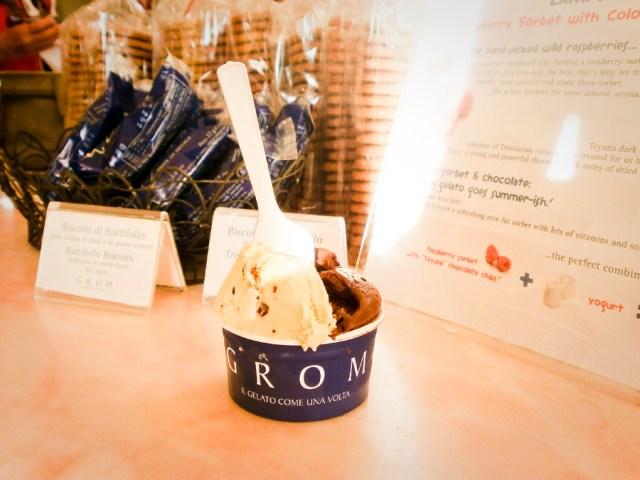 Grom ice cream gelato at Malibu.
