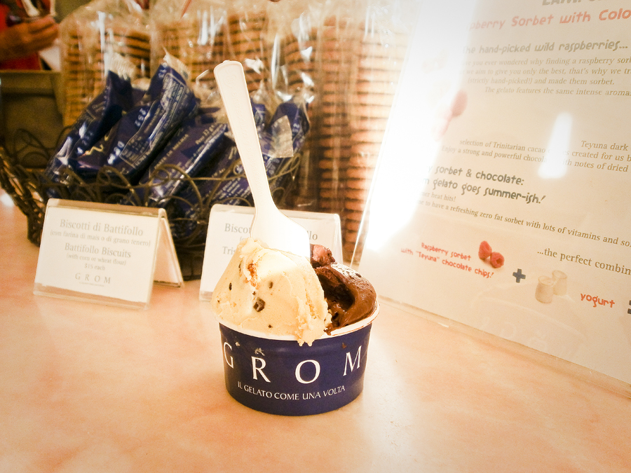 Grom ice cream gelato at Malibu.