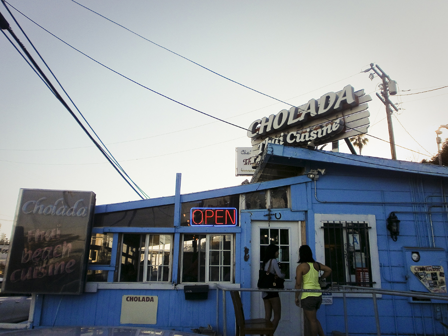 Facade of Cholada Thai Cuisine by Malibu Beach.