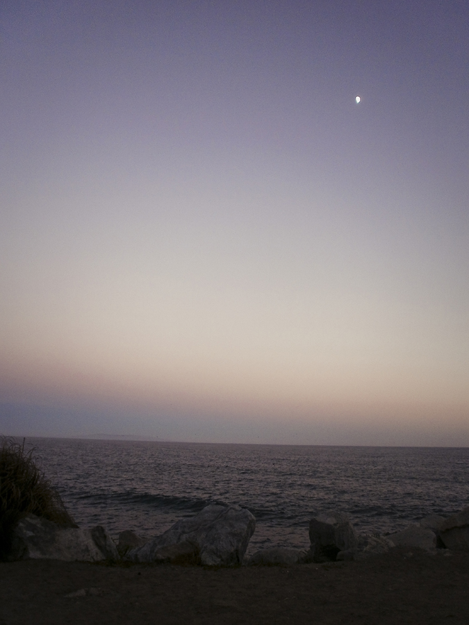 View of twilight at Malibu beach.