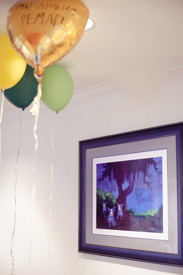 Helium balloons at the REMAP part at Jeff's house in Marina Del Rey.