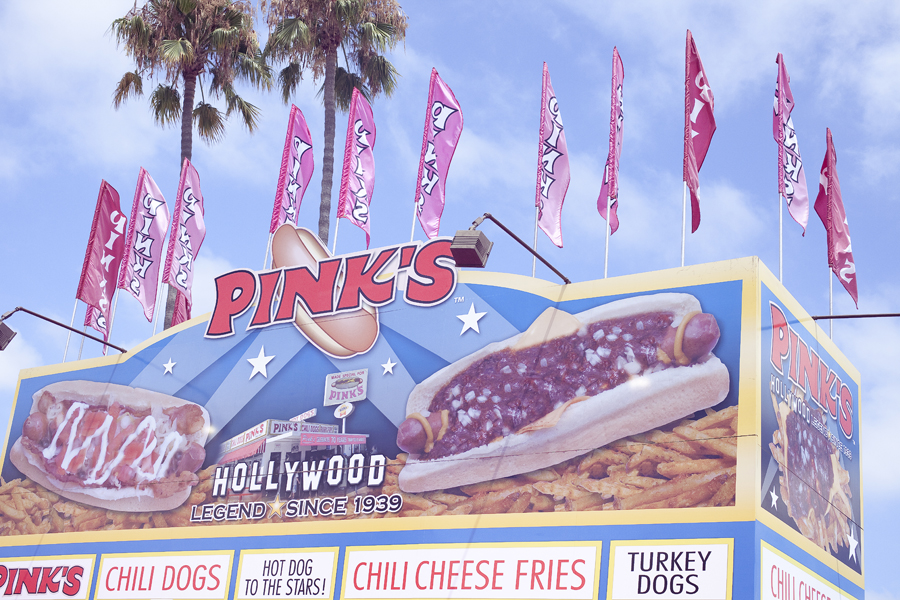 Pink's hot dogs at the Orange County Fair.