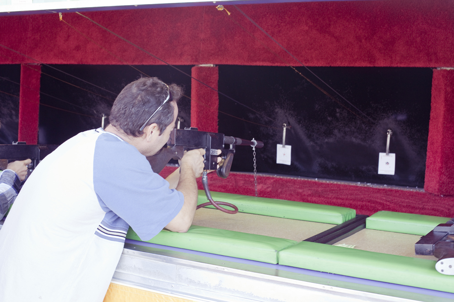Sharp shooting game at the Orange County Fair.