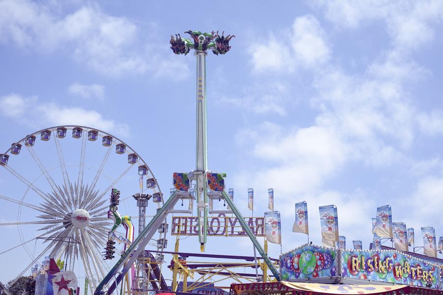 Rides at the Orange County Fair.
