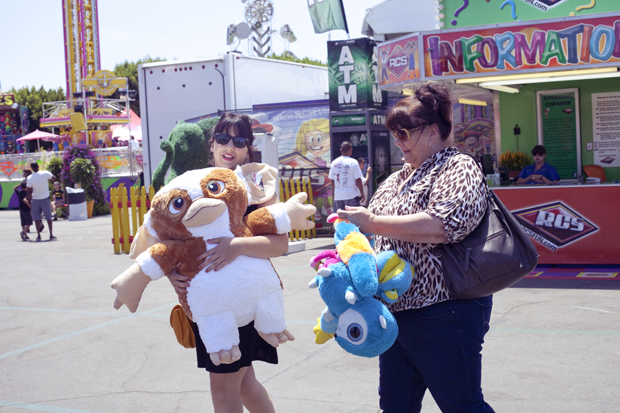 Large Gremlin prize at the Orange County Fair.