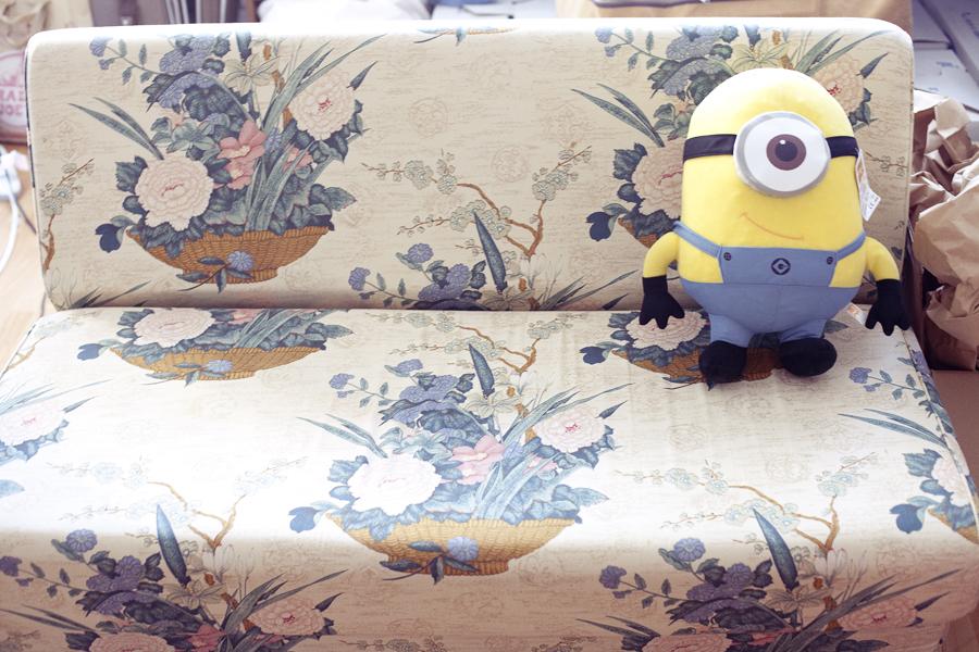 Minion at sofa.