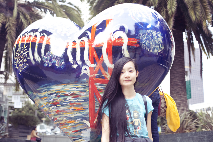 Ren at Union Square in San Francisco.