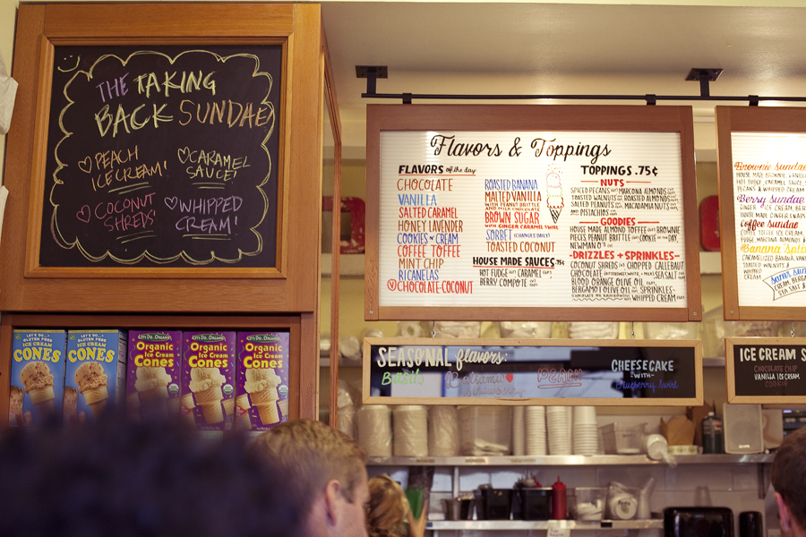 Bi-Rite Creamery in San Francisco, California.