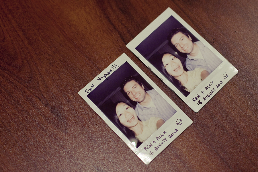 Instax photos of Nano and Ren.