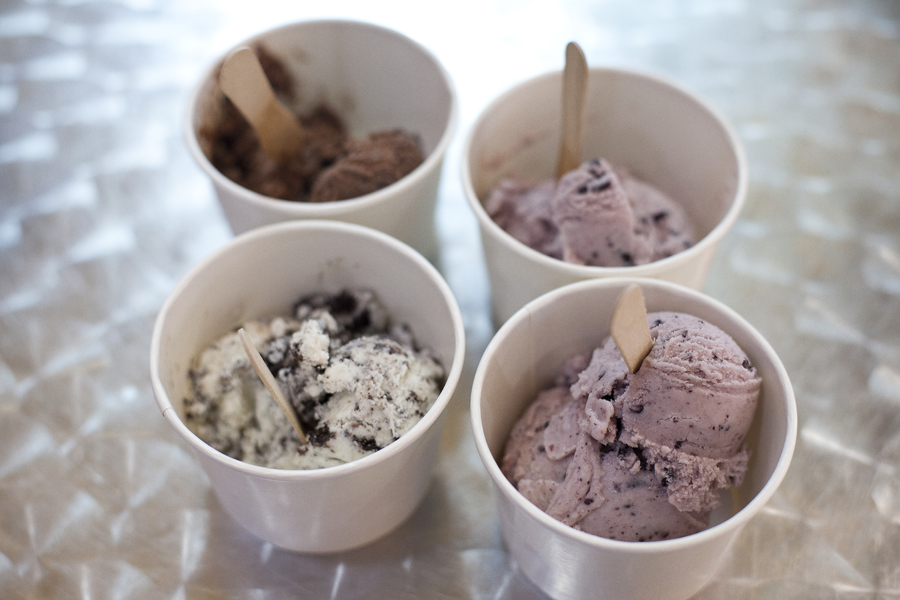 Cookies and Cream and Pulut Hitam ice cream from Island Creamery/