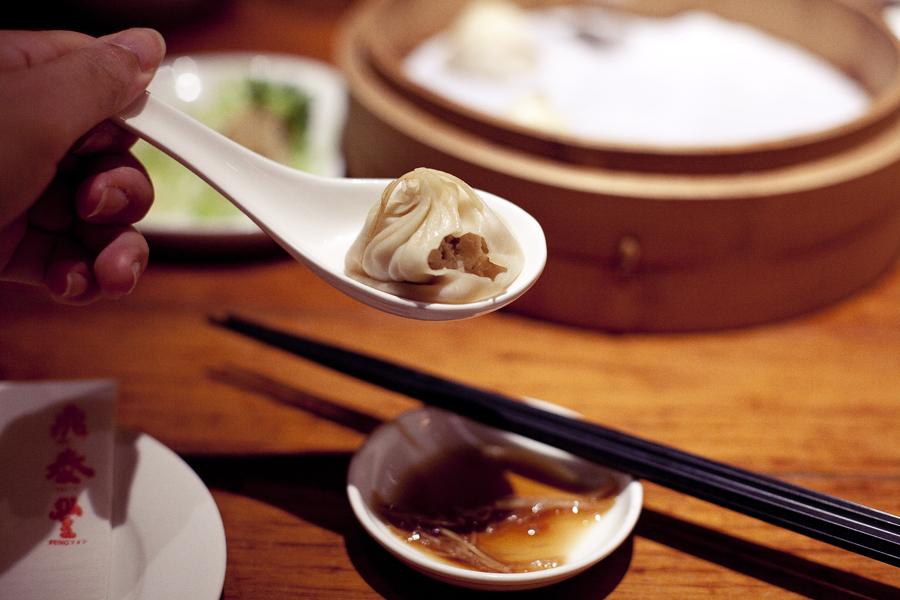 Xiao Long Bao dumplings at Din Tai Fung.