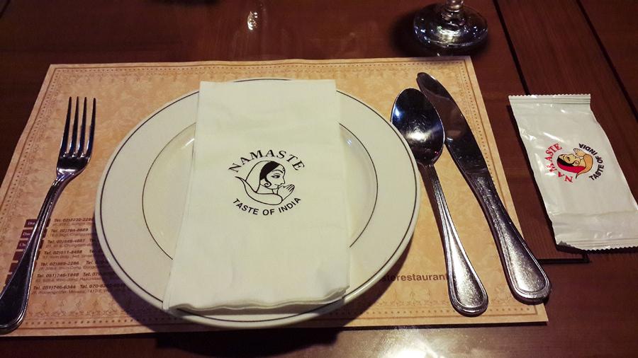 Dinner at Namaste: Taste of India in Busan, South Korea.