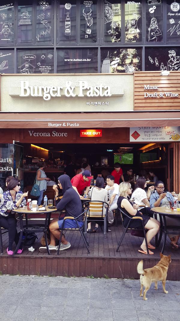 Thursday Party Burger & Pasta at Busan, South Korea.