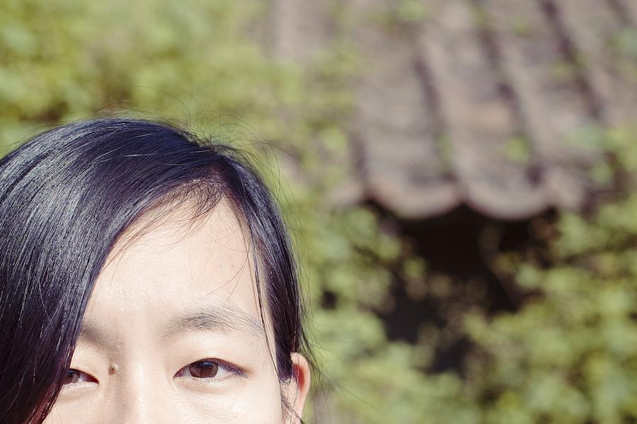 Close-up of brown eyes.
