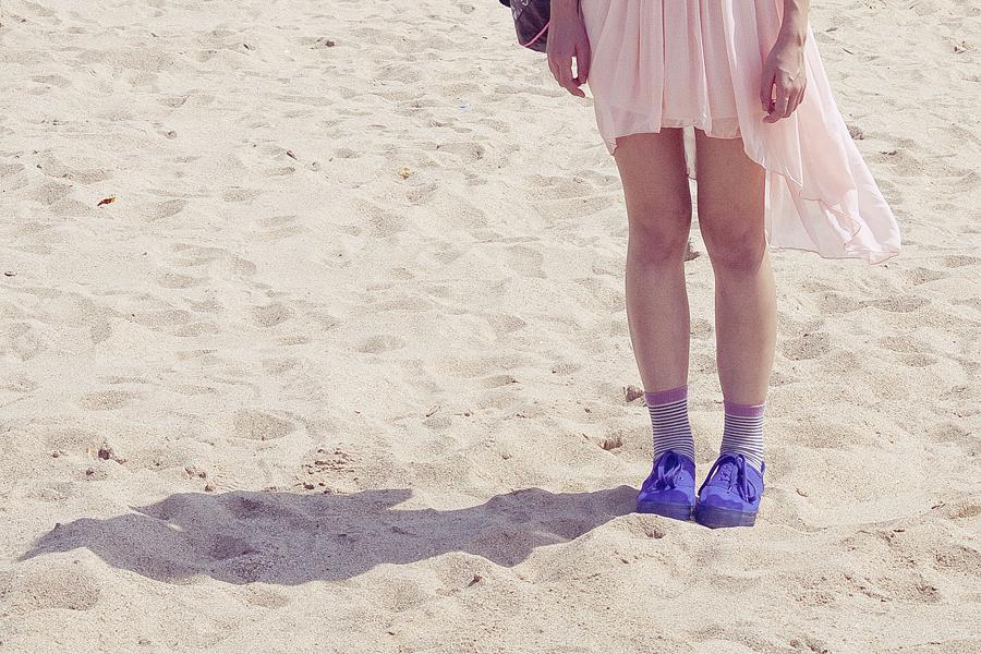 Ren at Haeundae beach in Busan, South Korea.