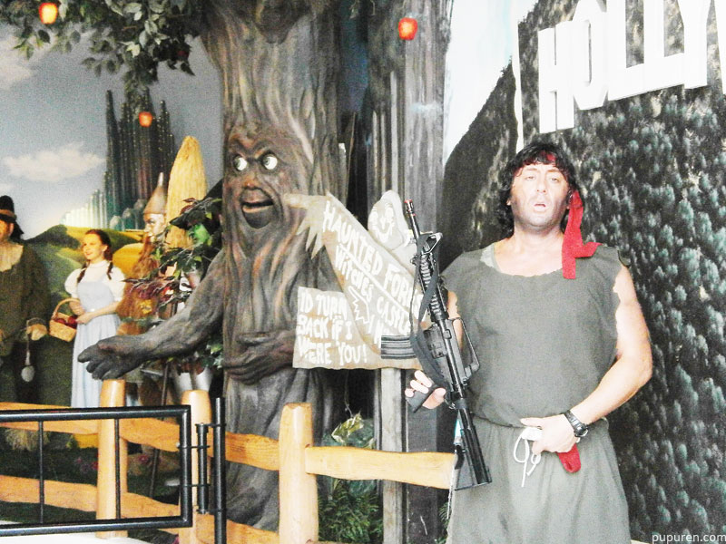 Rambo lookalike at Hollywood, Los Angeles.