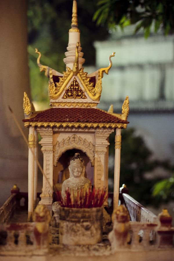 Small shrine at Wat Phnom, Phnom Penh, Cambodia.