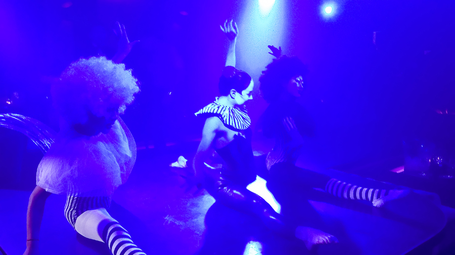 Performers on stage at Cirque le Soir nightclub in Shanghai.