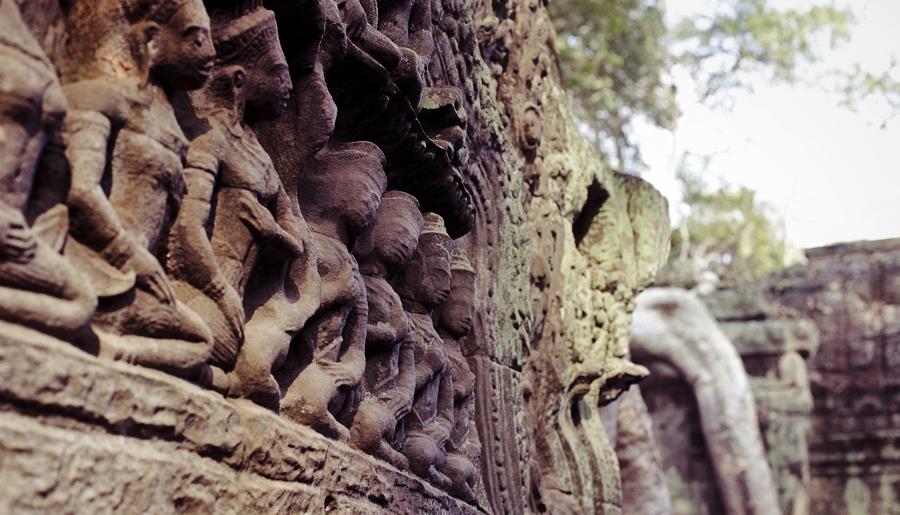 Apsaras at Ta Prohm, Cambodia.