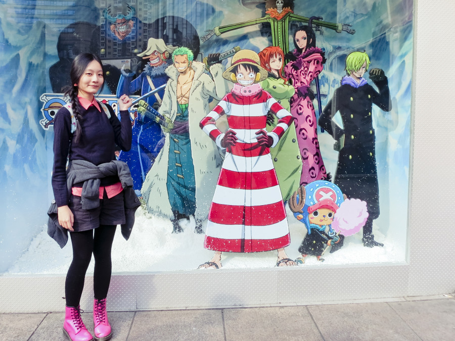 Ren with the cast of One Piece outside Baleno in Shanghai. Photo by Ade.