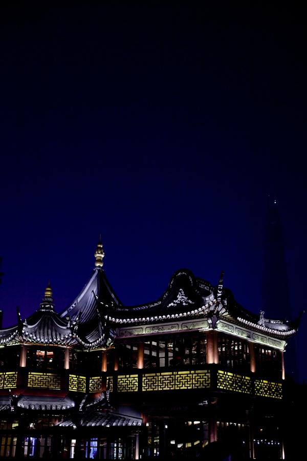 Yu Yuan at night, Shanghai.