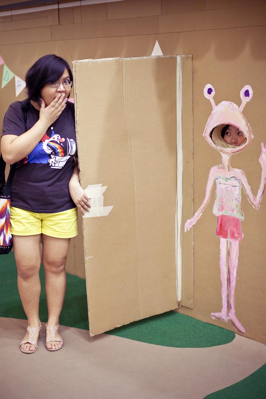 Cardboard playground for the Masak Masak exhibit at the National Museum of Singapore.