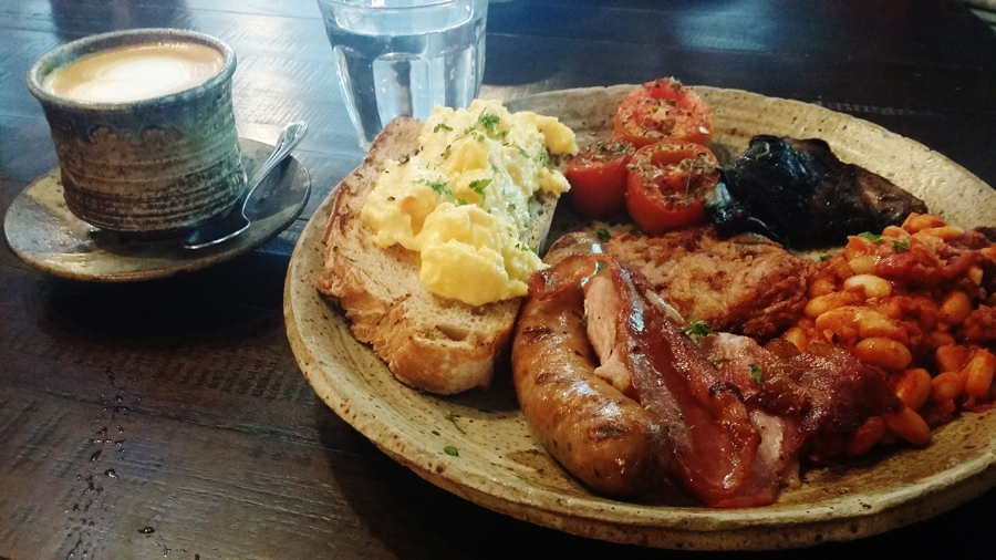 Common Man Full Breakfast from Common Man Coffee Roasters.