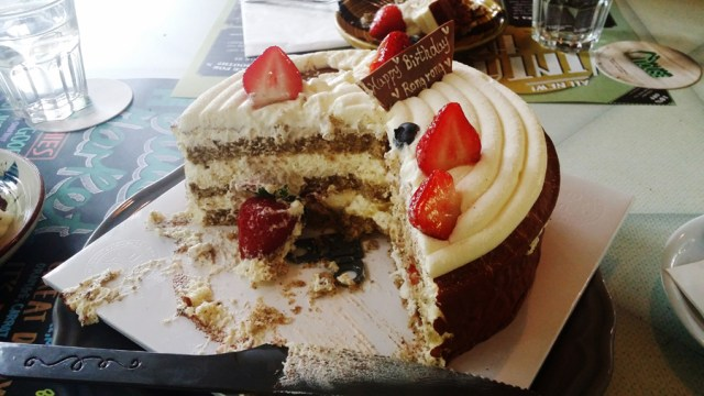 Earl Grey strawberry cake from Paris Baguette.