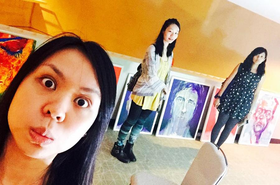 Selfie at the Bank Art Fair 2014 in Singapore. Photo by Ruru.