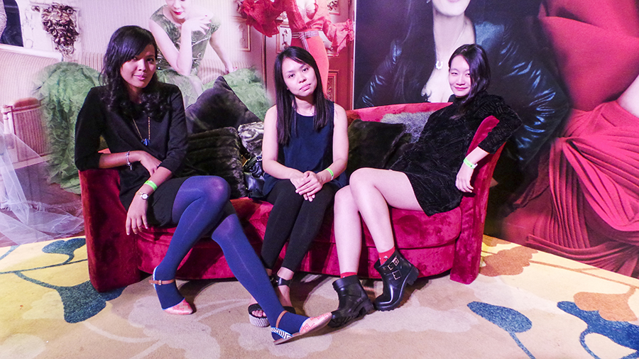 Shasha, Ruru, and Ren  at the Couturista Fashion Party at the Marina Bay Sands.