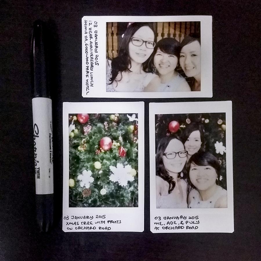 Polaroids with Ade & Puey.
