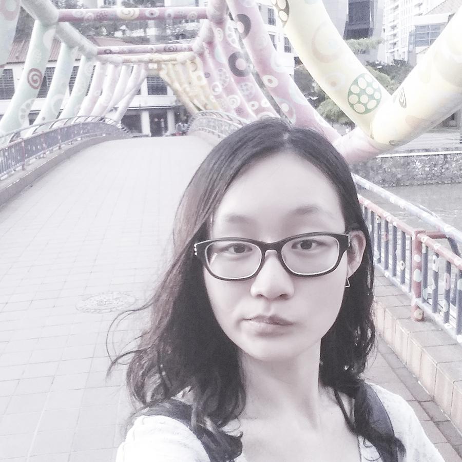 Selfie at The Art Bridge at Robertson Quay, Singapore.