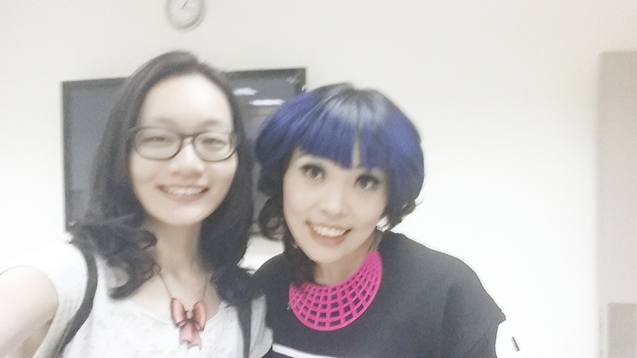 Wefie with hair stylist Yvonne at Kimage Hair Salon.