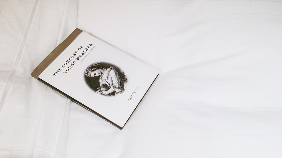 The Sorrows of Young Werther, a book provided by Lotte Hotel, Myeongdong, Korea
