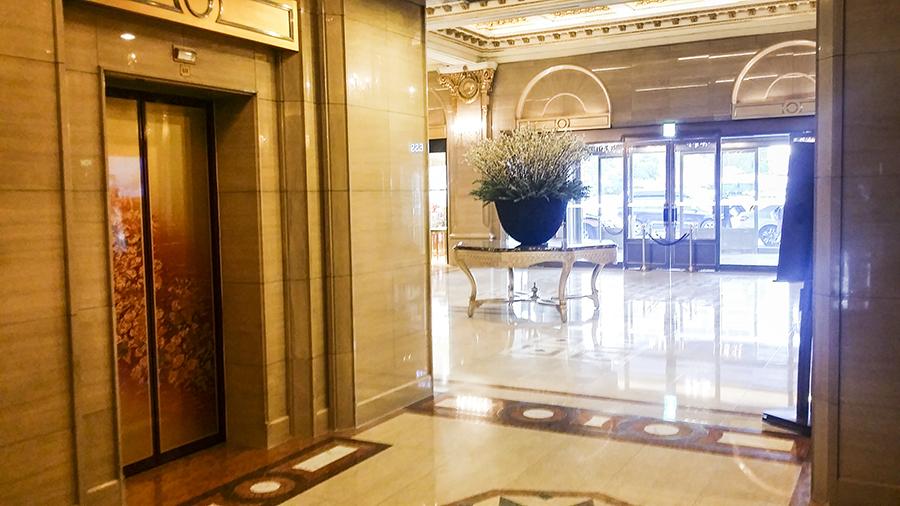 Lobby of Lotte Hotel, Myeongdong, Korea