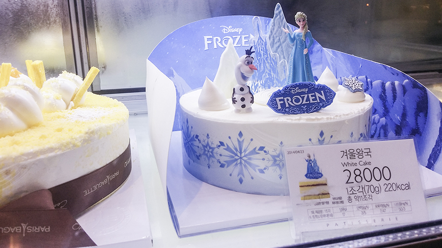 Disney Frozen cake from Paris Baguette, South Korea.