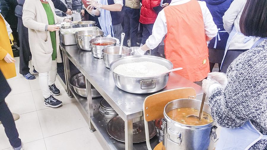School lunch in Sangju, South Korea.