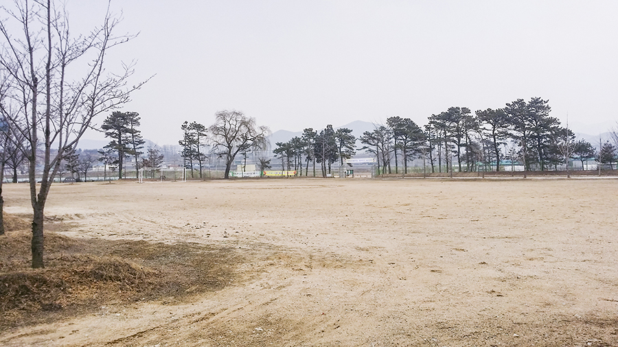 School grounds in Sangju, South Korea.