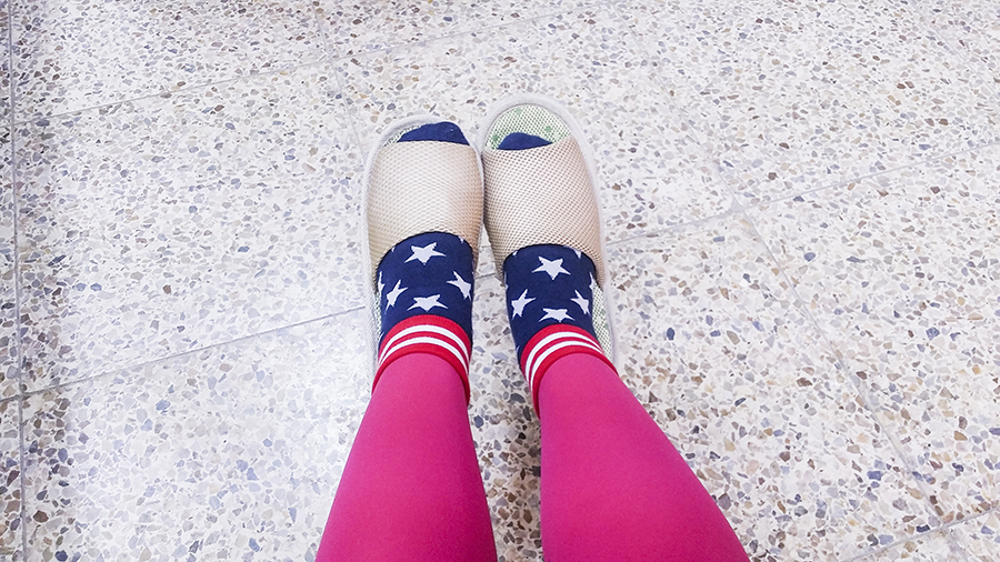 Indoor slipper for school in Sangju, South Korea.