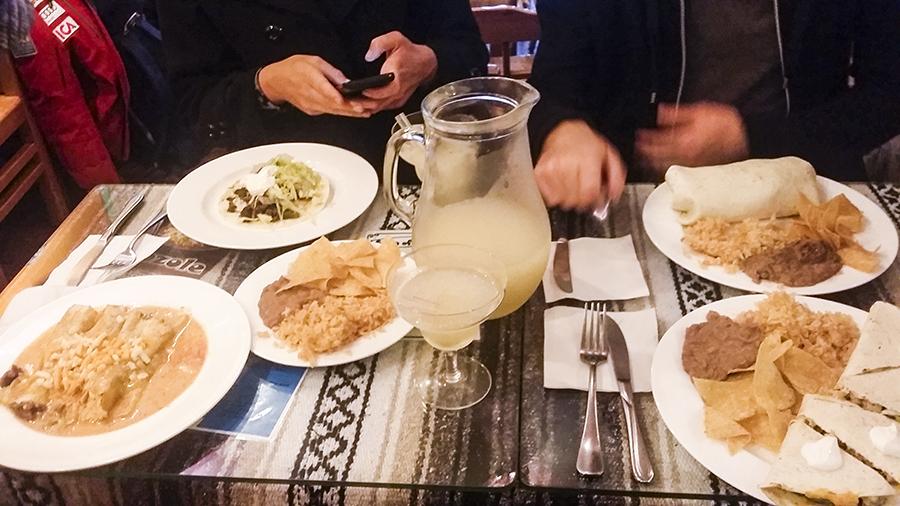 Dinner at Taco Amigo Restaurante Mexicano, Itaewon, Seoul, South Korea.